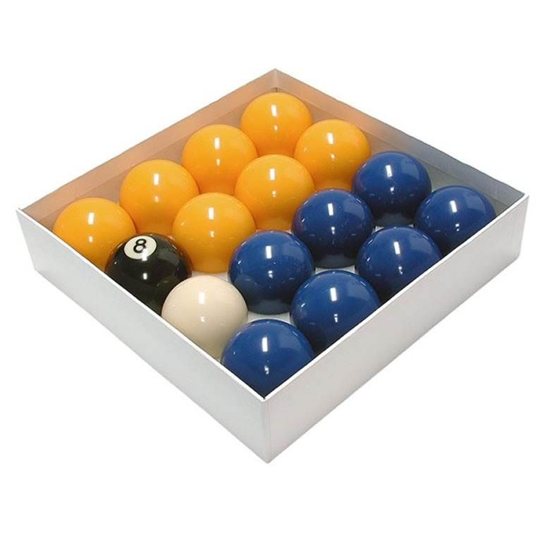 Blue & Tellow Pool Table Balls - Free Pool Table Accessories