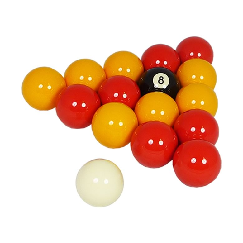 Red & Yellow Pool Table Balls - Free Pool Table Accessories