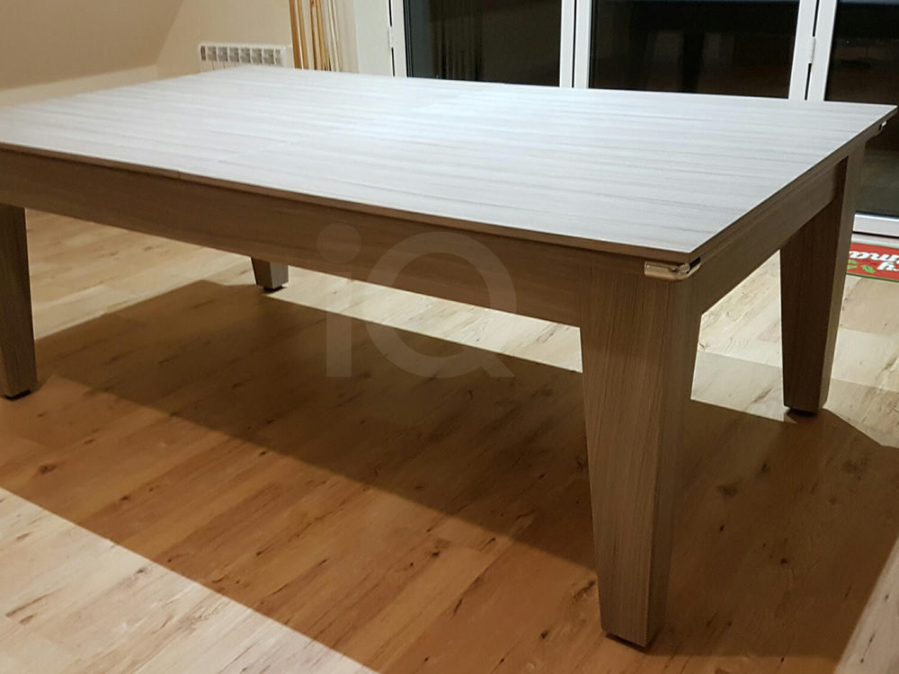 7ft Gatley Driftwood Pool Dining Table with Red Cloth