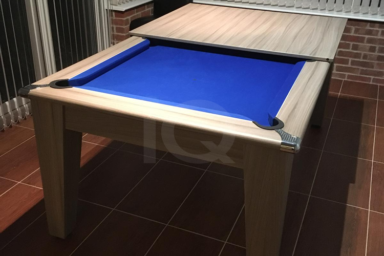 Gatley Classic Pool Dining Table with Blue Cloth