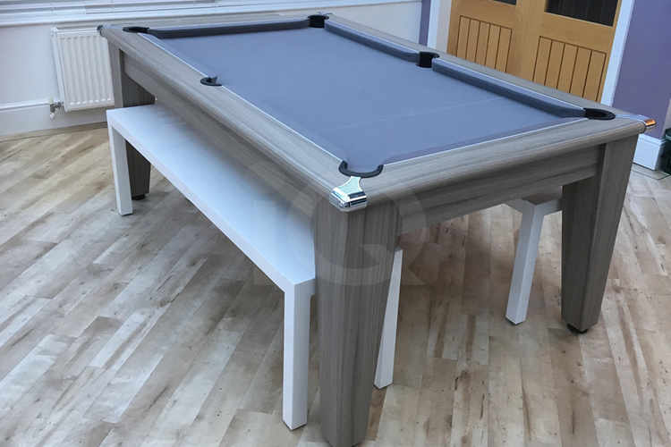 Gatley Classic Pool Dining Table with Silver Cloth