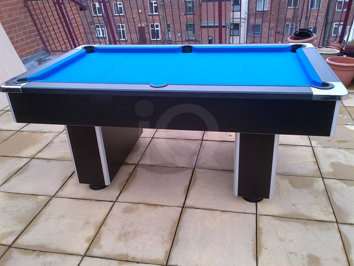 Slimline Pool Table with Purple Cloth