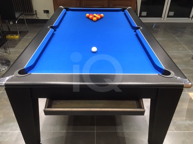 Gatley Classic Pool Dining Table Black Finish
