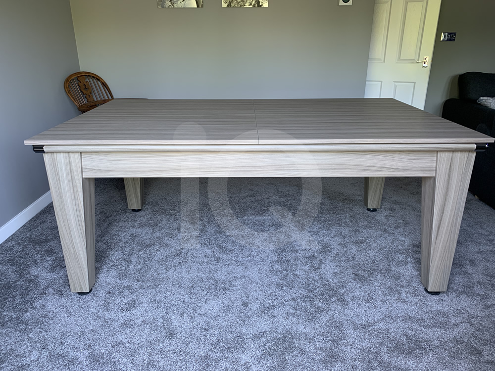 Gatley Classic Driftwood Pool Dining Table with Powder Blue Cloth 8
