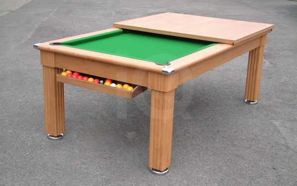 Oak dining pool table