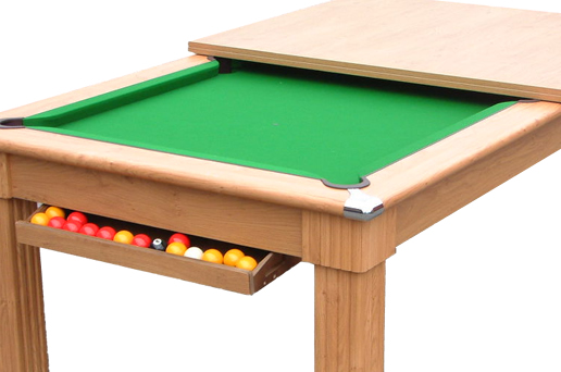 Traditional Pool Dining Table in Oak