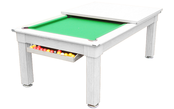 Gatley Traditional Pool Dining Table in White