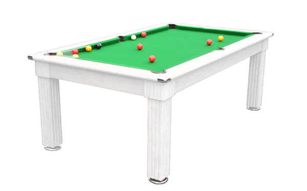 Gatley Traditional Pool Dining Table in White without table top